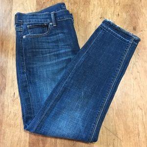 Lucky Brand Brooke Capri Frayed Ankle Jeans